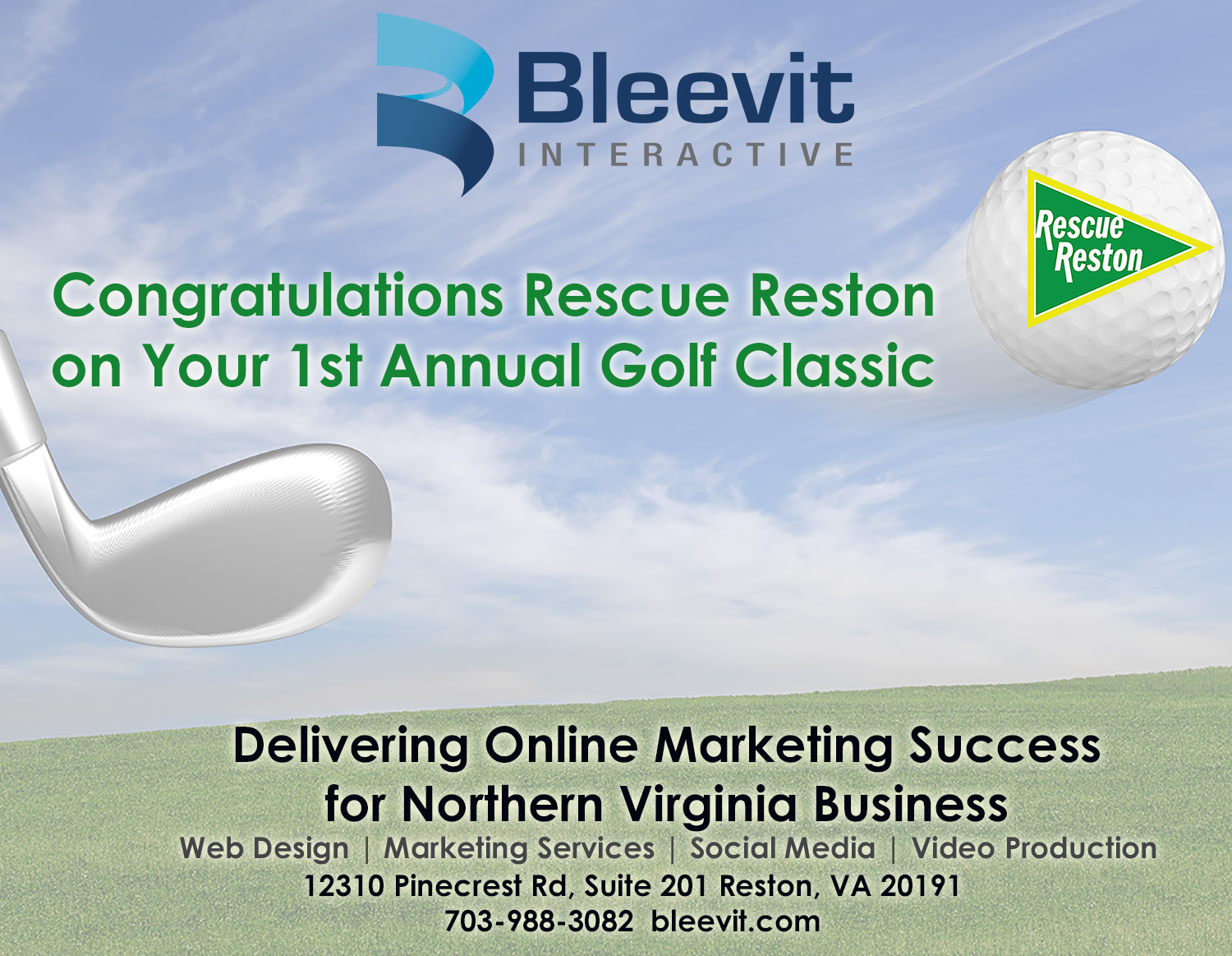 Bleevit Interactive Tee & Marketing Sponsor